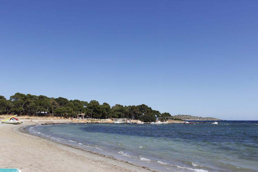 El entorno de pinos de la playa aún respira la esencia mediterránea