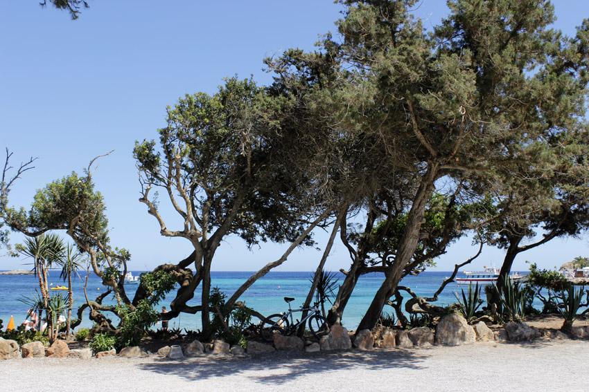 El color del mar, en esta zona de la isla, tiene tonos de azul absolutamente maravillosos