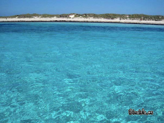 blue water ibiza beach