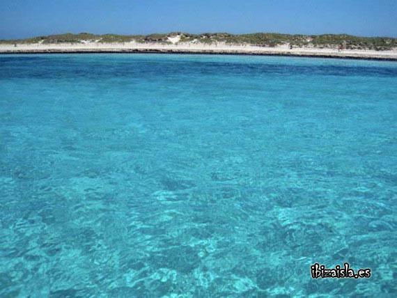 blue water ibiza beach