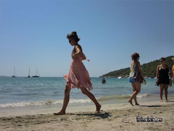 vestido rosa playa