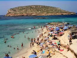 Cala Comte playa nudista en Ibiza