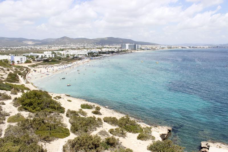 Panorámica de la Playa d'en Bossa.