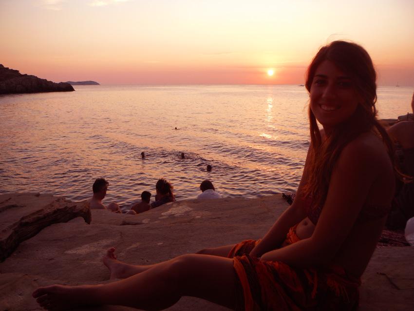 puesta de sol en ibiza: punta galera