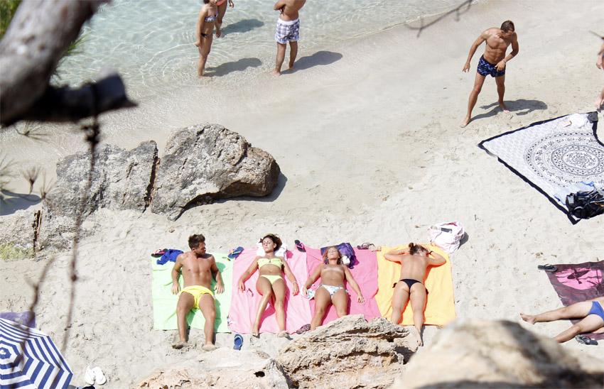Estos turistas que son la viva imagen de la felicidad