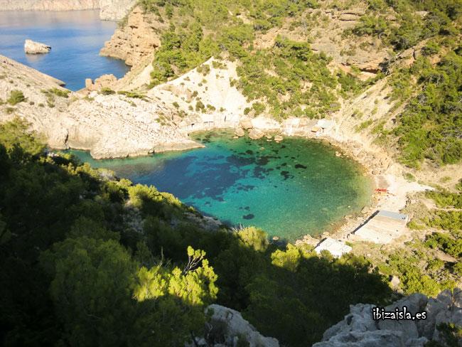 Foto de la Cala de Es Portitxol en Ibiza