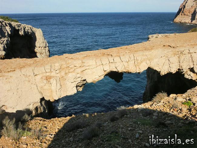 arco, piedra, cala, aubarca