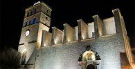 catedral de ibiza de noche