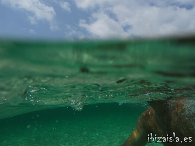 el primer baño en el agua ibiza