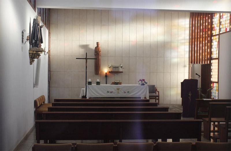 Aspecto del interior de la capilla de Forada