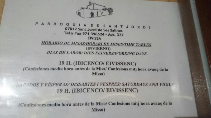 En la Iglesia de Sant Jordi, se dan misas en castellano y en 'eivissenc'