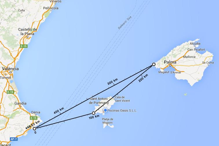 """El triángulo del silencio, """"el triángulo de las Bermudas del Mediterráneo"""", estaría ubicado entre el peñón de Ifach, Es Vedrà y la costa suroeste de Mallorca."""