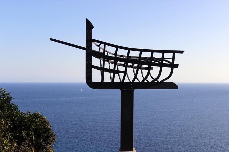 El Monumento a la gente de la mar en homenaje a los pescadores de Es Cubells