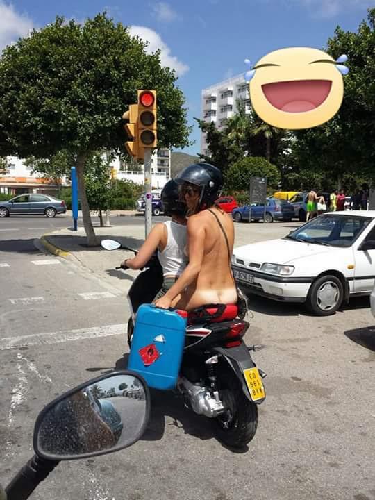 Únicamente espero que antes de subir a la moto no la tuviese al sol