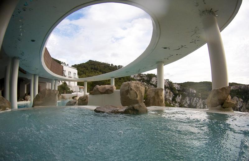 Panorámica de las piscinas del Spa de Na Xamena