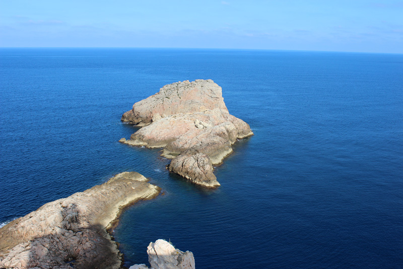 La isla de Punta Grossa se encuentra justo bajo el faro.