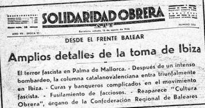 Los diarios de la época contaban cómo se había producido 'la toma de Ibiza'.
