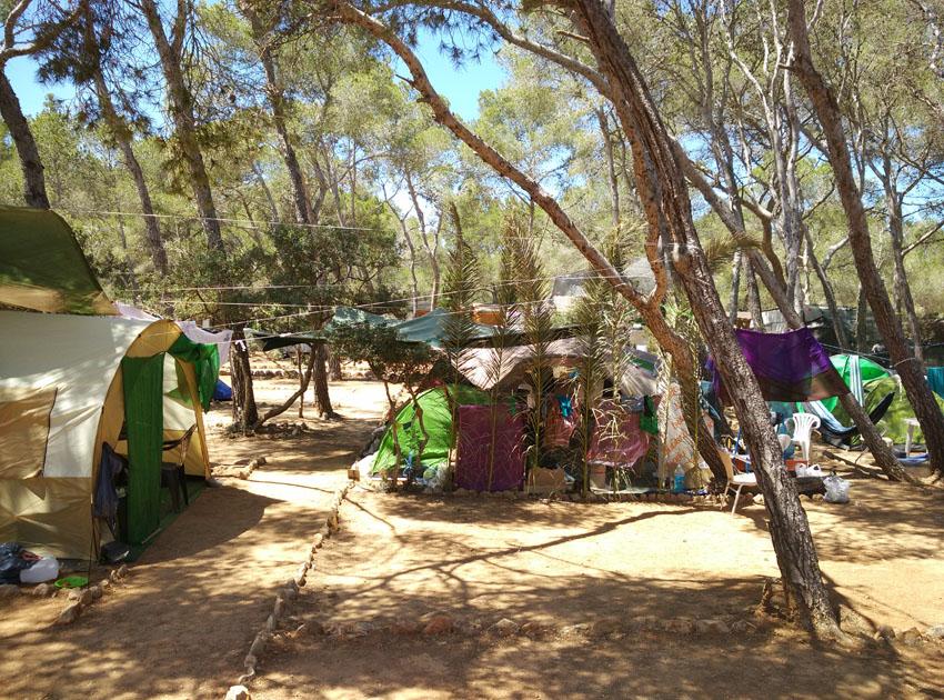 Los campings de Ibiza destacan por encontrarse en plena naturaleza.
