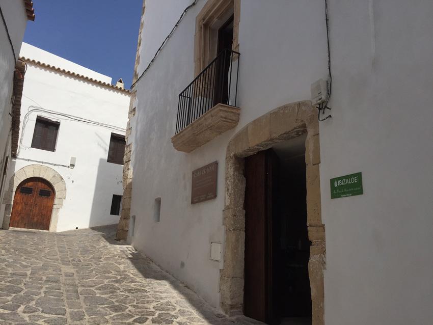 Ubicación de la casa Museo Colón de Ibiza, junto a la Capilla de Sant Ciriac