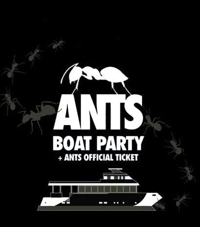Cartel de Ants Boat Party