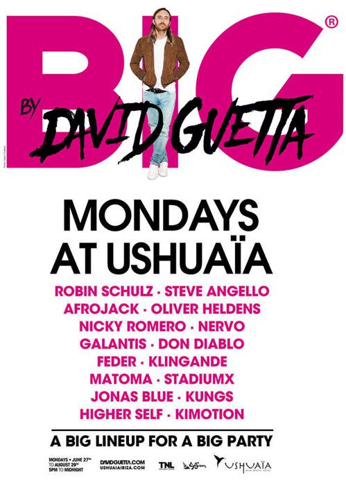 Cartel de la fiesta BIG de David Guetta