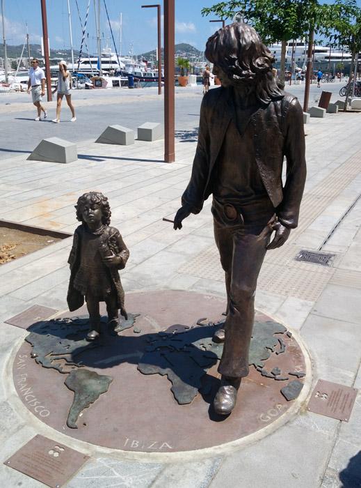monumento hippy de Ibiza