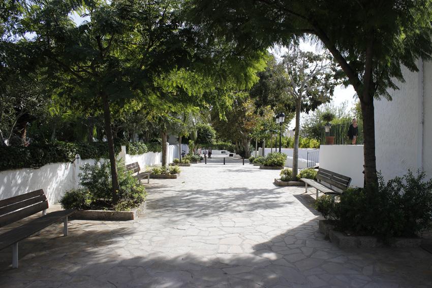 una calle de jesus, en Ibiza