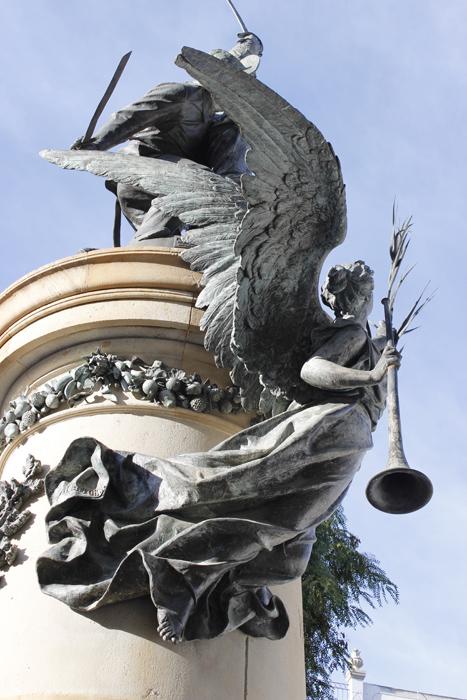 Detalle del monumento a Vara de Rey