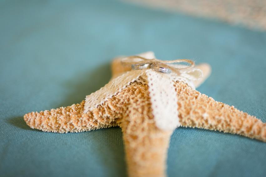 Las alianzas llegaron al altar protegidas por esta estrella de mar