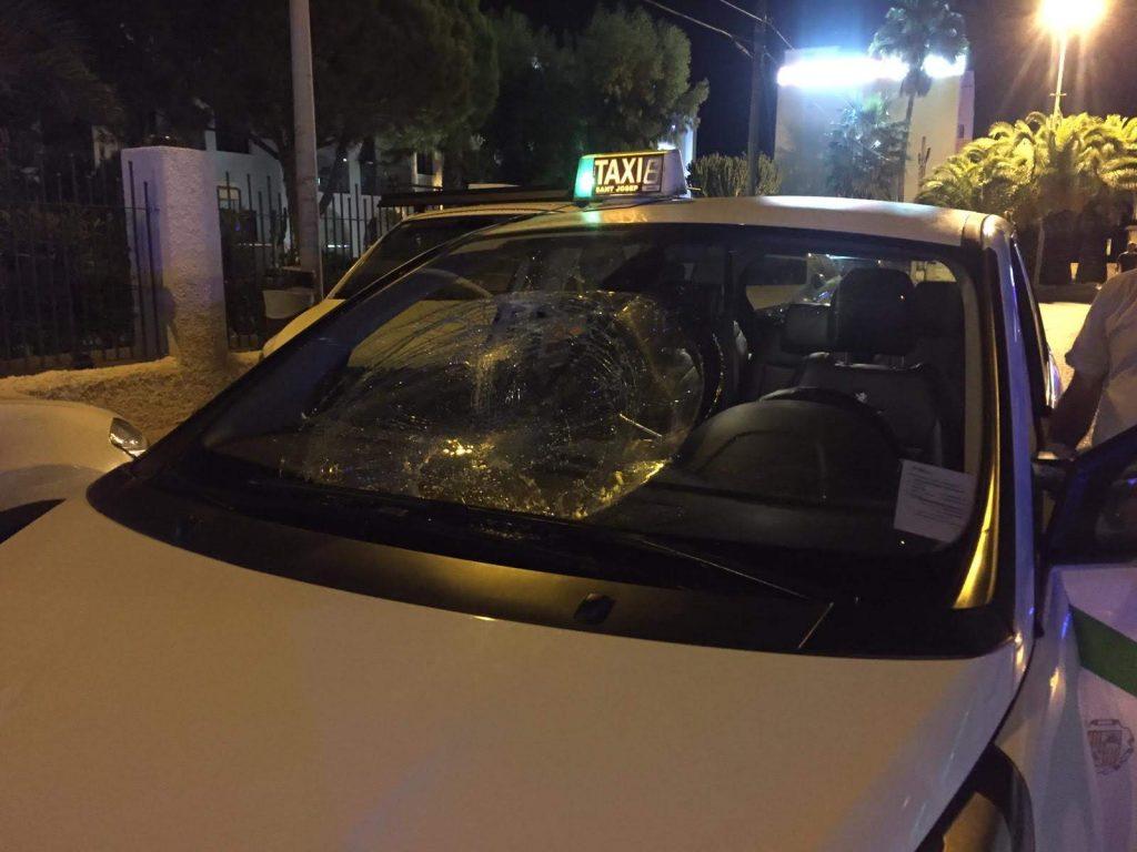 accidente taxi playa den bossa