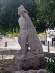 Monumento pescador en sant antoni de portmany